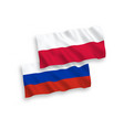 flags poland and russia on a white background vector image