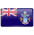 Flags Tristan da Cunha in the form of a magnet on vector image vector image