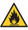 flammable hazard symbol vector image vector image