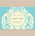 floral card blue vector image vector image