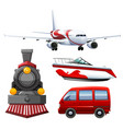 four types of transportations vector image