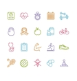 Fytness Health Colorful Outline Icon Set