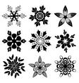 Graphic flowers set