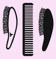 hair comb hairbrush comb vector image vector image