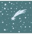 Hand-drawn shooting star vector image vector image