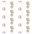 happy clown playing ball seamless pattern vector image