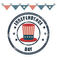hat usa independence day celebration vector image
