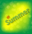 hello summer background fun quote hipster design vector image vector image