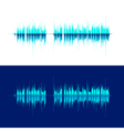 HQ sound waves Music waveform background You can vector image vector image