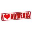 i love armenia stamp vector image