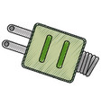 isolated ecologic electric plug vector image