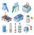 isometric industrial buildings factory building vector image vector image