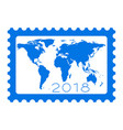 map on stamp 2018 lettering vector image