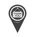 map pointer thank you icon vector image vector image