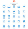 Modern Flat Line Color Icons Universal and Basic vector image vector image