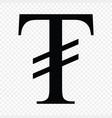 mongolian tugrik sign vector image vector image
