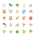 nature and ecology flat colored icons 5 vector image vector image