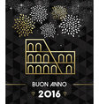 new year 2016 rome colosseum travel gold vector image