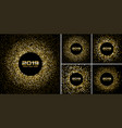 new year 2019 card gold backgrounds set vector image vector image