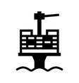 oil platform vector image vector image