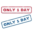 Only 1 Day Rubber Stamps vector image vector image