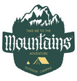 outdoor mountain expedition typography vector image vector image