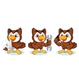 Owl Mascot with phone vector image vector image