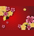 paper art of chinese traditional and asian vector image vector image