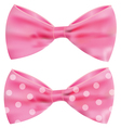 Pink ribbon with gorgeous bow vector image