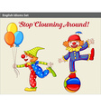 Playful clowns vector image vector image