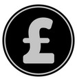 pound sterling black coin vector image