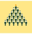 pyramid of people working in the commando vector image