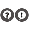 question mark and exclamation point icon vector image vector image
