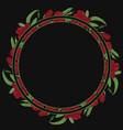 round floral border frame vector image vector image