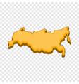russia map icon cartoon style vector image vector image