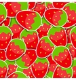 Seamless Pattern Background from Strawberry vector image vector image