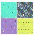 set bright paint drops seamless patterns vector image vector image