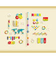 set flat design icons vector image vector image