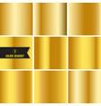 set gold foil texture vector image