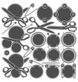 set of signs with sewing accessories vector image
