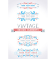 Set of vintage page decorations vector image