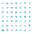 simple set sea food related line icons vector image