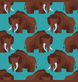 stone age mammoth seamless pattern color vector image