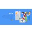 Supermarket Sale Banner Household Appliances vector image vector image