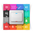 switch icon abstract business infographic vector image vector image