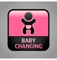 Symbol baby changing facilities vector image vector image