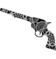 tattoo gun with ornaments in vector image