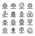 tree icons in minimal style vector image vector image