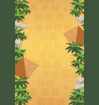 vertical game background with pyramids vector image
