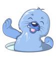 walrus smile icon cartoon style vector image